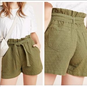 Anthropologie Paperbag Style Shorts Sz S